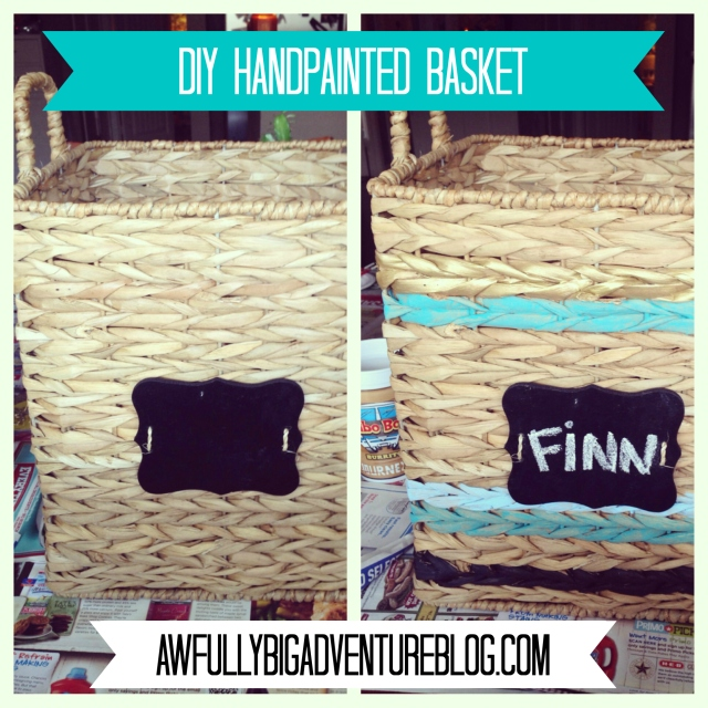 DIY Handpainted Basket | Awfully Big Adventure