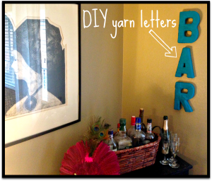 DIY Yarn Letters- an easy and affordable way to create textured wall art!